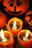 Предпосылка хеллоуина, handmade тыква Стоковое Изображение