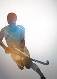 Предпосылка хоккея на траве Стоковая Фотография