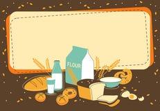 Предпосылка хлебопекарни Стоковые Изображения