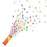 предпосылка цветастый confetti создает украшение легкое изолировала собственное отдельно к белизне вашей Стоковые Изображения
