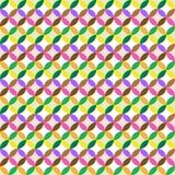 Предпосылка цвета винтажного безшовного круга плоская Стоковая Фотография RF
