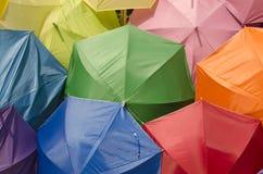 Предпосылка цвета зонтика различная Стоковая Фотография RF
