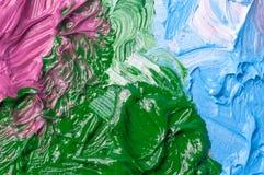 Предпосылка цвета красок масла художников Стоковые Изображения