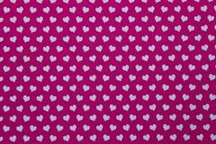 Предпосылка цвета с много малых сердец Стоковое фото RF
