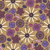 предпосылка цветет безшовное Стоковая Фотография