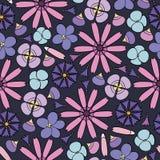 предпосылка цветет безшовное Стоковое Изображение RF