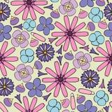 предпосылка цветет безшовное Стоковые Фото
