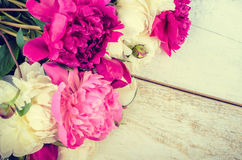 Предпосылка цветка пиона Стоковые Фотографии RF