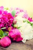 Предпосылка цветка пиона Стоковая Фотография