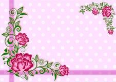 Предпосылка цветка с белой точкой стоковые изображения rf