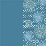 Предпосылка цветка Bautiful с многоточиями Стоковая Фотография