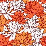 Предпосылка цветков лотоса безшовная Стоковое Изображение