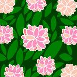 Предпосылка цветков также вектор иллюстрации притяжки corel Бесплатная Иллюстрация