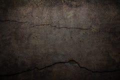 Предпосылка цемента с треснутой кожей Стоковые Изображения