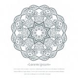 Предпосылка циркуляра цветка мандала Стилизованный орнамент шнурка Индийский флористический орнамент Красивая кружевная скатерть, Стоковое Фото