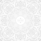 Предпосылка циркуляра цветка Стилизованный чертеж мандала Стилизованный орнамент шнурка Индийский флористический орнамент Стоковое фото RF