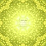 Предпосылка циркуляра цветка Стилизованный чертеж мандала Стилизованный орнамент шнурка Индийский флористический орнамент Стоковая Фотография RF