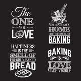 Предпосылка цитаты типографская о хлебе Стоковые Фотографии RF