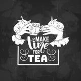 Предпосылка цитаты типографская о чае Стоковая Фотография RF