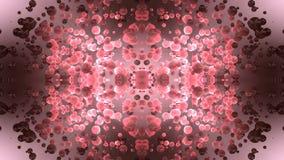 Предпосылка частиц розовая видеоматериал