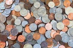 предпосылка чеканит деньги Стоковые Фотографии RF