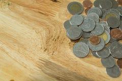предпосылка чеканит деньги Стоковое Изображение