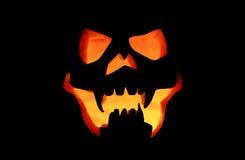 Предпосылка черноты лампы маски тыквы хеллоуина Стоковые Изображения