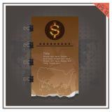 Предпосылка черноты вектора золота бумажных денег дела доллара Стоковая Фотография RF