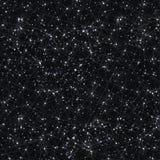 Предпосылка черноты галактики абстрактного вектора космическая с межзвёздным облаком, stardust, яркими сияющими звездами, и геоме Стоковое Изображение