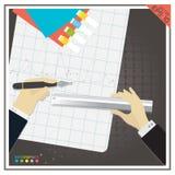Предпосылка черноты диаграммы диаграммы успеха эффективности бизнеса Стоковая Фотография RF