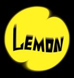 Предпосылка черноты лимона логотипа Стоковая Фотография RF