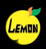 Предпосылка черноты разрешения лимона логотипа Стоковое фото RF