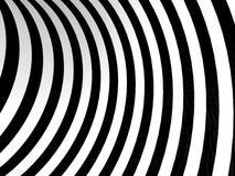 Предпосылка черно-белых нашивок абстрактная Стоковые Изображения