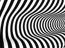 Предпосылка черно-белых нашивок абстрактная Стоковая Фотография