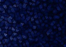 Предпосылка черных & голубых частиц полигона абстрактная Стоковая Фотография RF