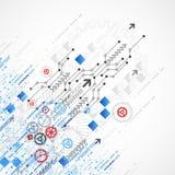 Предпосылка шаблона дела абстрактной технологии иллюстрация штока