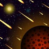 Предпосылка шаржа космоса Стоковое Изображение RF
