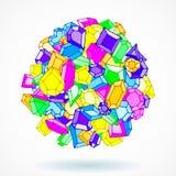 Предпосылка шарика вектора самоцветов doodle шаржа бесплатная иллюстрация