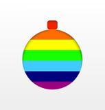 Предпосылка шарика рождества радуги Стоковые Изображения