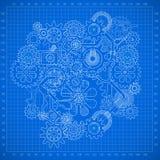 Предпосылка шестерни Clockworks иллюстрация штока