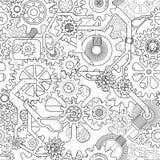 Предпосылка шестерни Clockworks бесплатная иллюстрация
