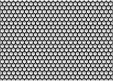 Предпосылка шестиугольника черно-белая Стоковое фото RF