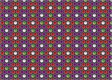 Предпосылка шестиугольников и кубов Стоковые Изображения