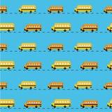 Предпосылка школьного автобуса пиксела Стоковые Изображения RF