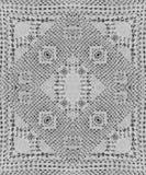 Предпосылка шнурка вязания крючком хлопка для scrapbook Коллаж с отражением зеркала Безшовный монтаж калейдоскопа картины Стоковое Изображение