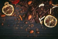 Предпосылка шоколадов Стоковые Изображения