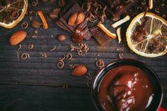 Предпосылка шоколадов Стоковое Фото