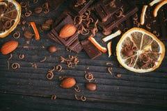 Предпосылка шоколадов Стоковое Изображение RF
