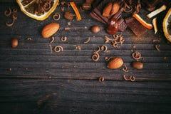 Предпосылка шоколадов Стоковая Фотография RF