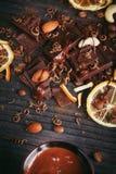 Предпосылка шоколадов Стоковые Фото